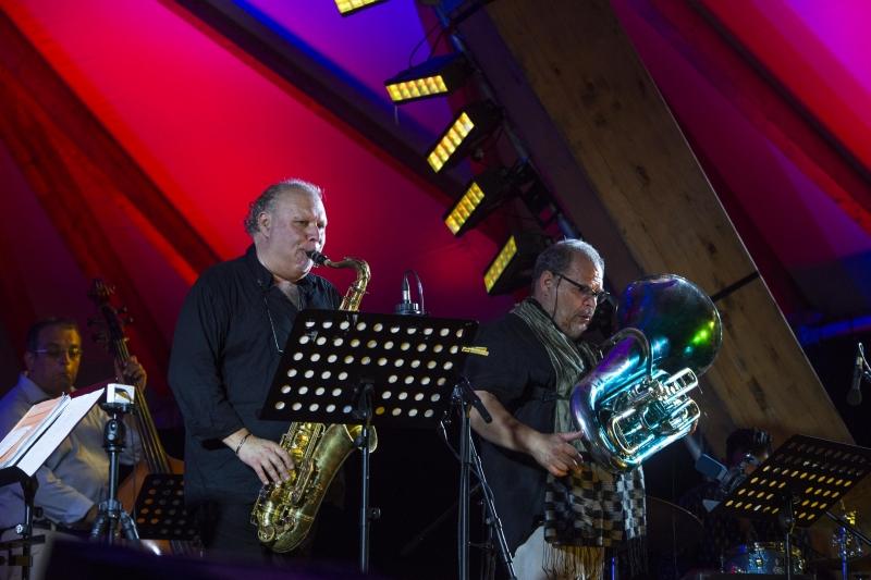Open Air Concert I Schloss Eszterházy I Snétberger Quartet I  Gäste I 2015 - © Zsigmont Csákvári