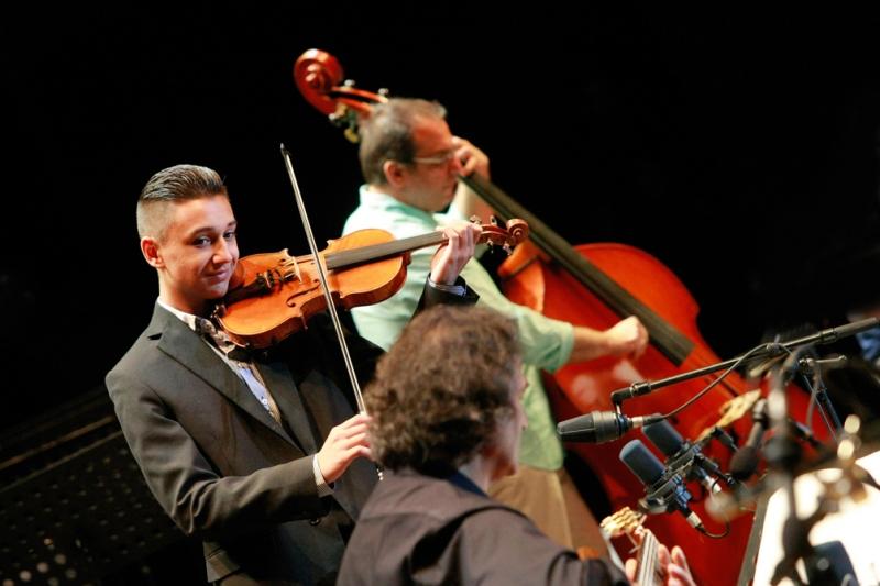 Open Air I Budapest I 2014 I Concerto Budapest I Quartet I Michel Godard & students - © Budapest Summer Fest I Otto Kaiser