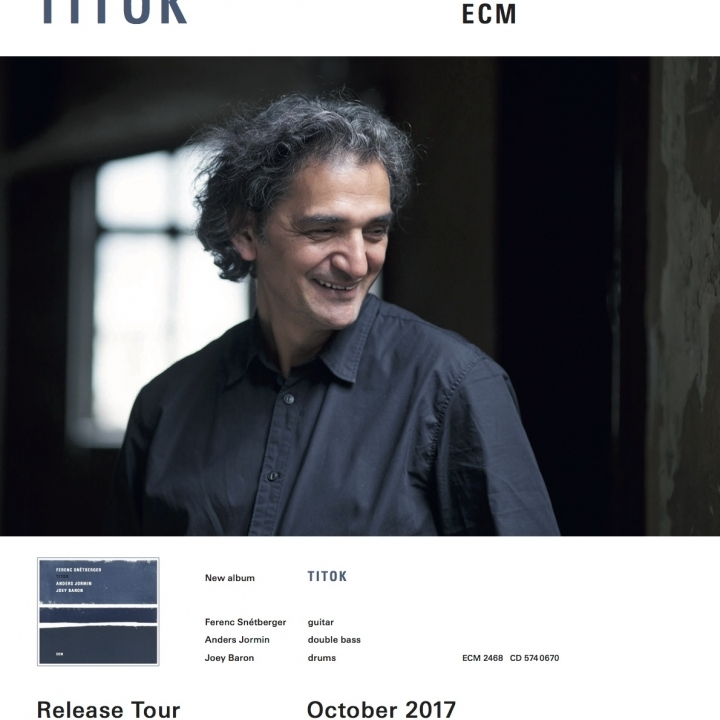 SNÉTBERGER TRIO |  TITOK | lemezbemutató  turné | OCTOBER 2017